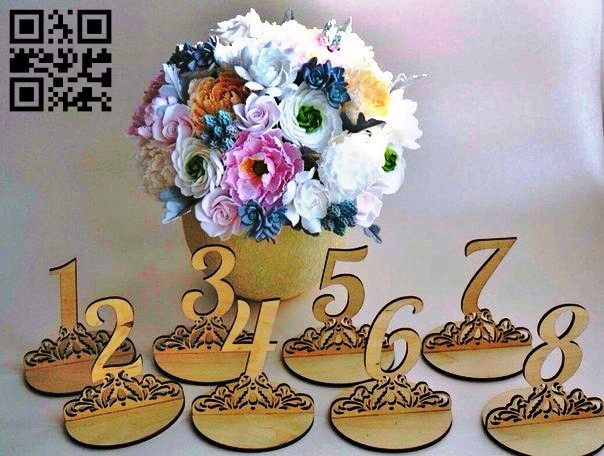 Number E0011230 file cdr and dxf free vector download for Laser cut