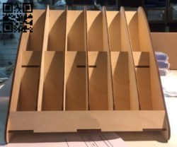 Organizer E0010972 file cdr and dxf free vector download for Laser cut