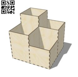 Organizer E0011207 file cdr and dxf free vector download for Laser cut