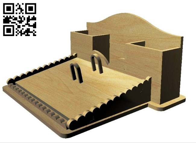 Organizer E0011316 file cdr and dxf free vector download for Laser cut