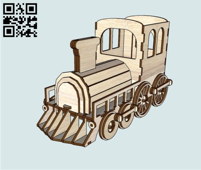 Organizer piggy bank train E0011071 file cdr and dxf free vector download for Laser cut