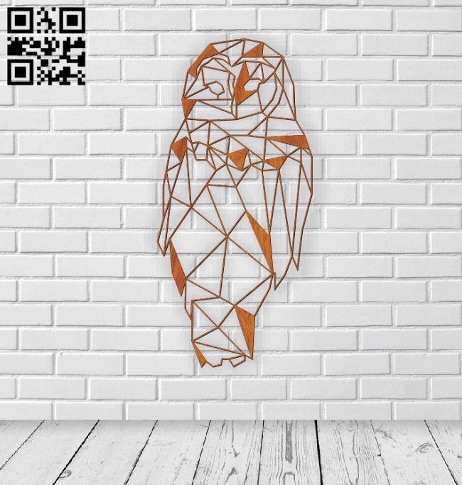 Owl E0011187 file cdr and dxf free vector download for laser cut
