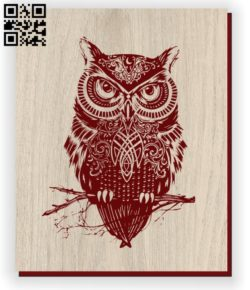 Owl E0011221 file cdr and dxf free vector download for laser engraving machines