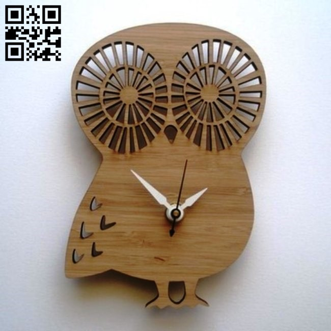 Owl clock E0011229 file cdr and dxf free vector download for Laser cut