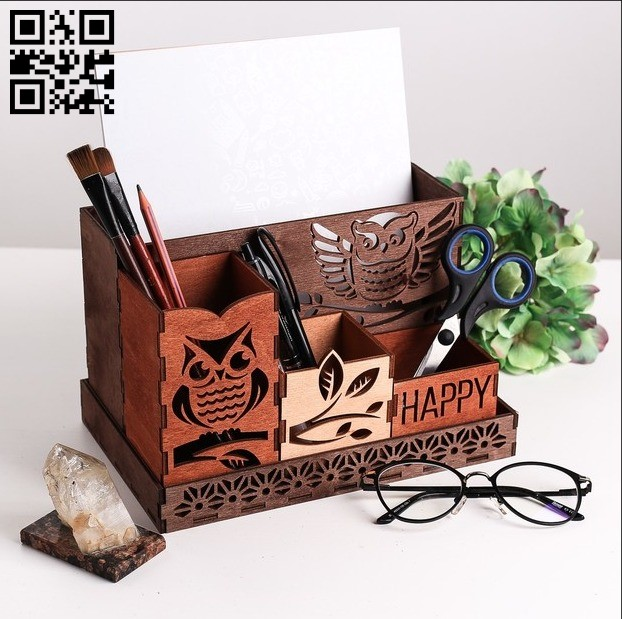 Owl organizer E0011205 file cdr and dxf free vector download for Laser cut