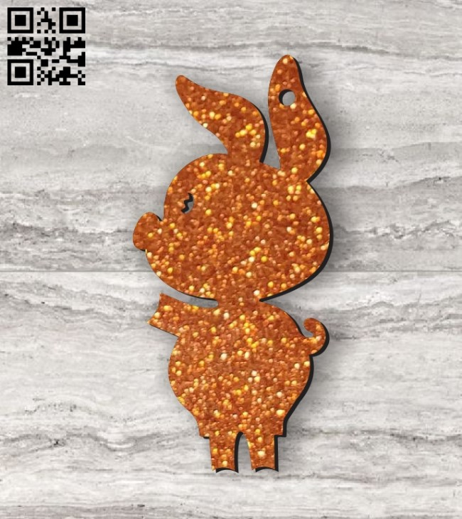 Pig chain E0011213 file cdr and dxf free vector download for Laser cut