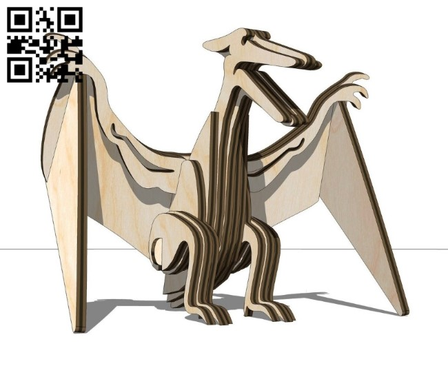 Pterodactyl Dinosaurs E0011209 file cdr and dxf free vector download for Laser cut 1