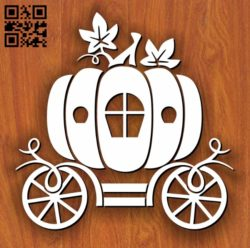 Pumpkin Carriage E0011248 file cdr and dxf free vector download for Laser cut