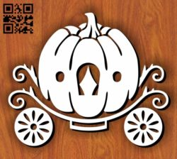 Pumpkin Carriage E0011249 file cdr and dxf free vector download for Laser cut