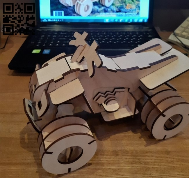 Quad bike E0010928 file cdr and dxf free vector download for Laser cut