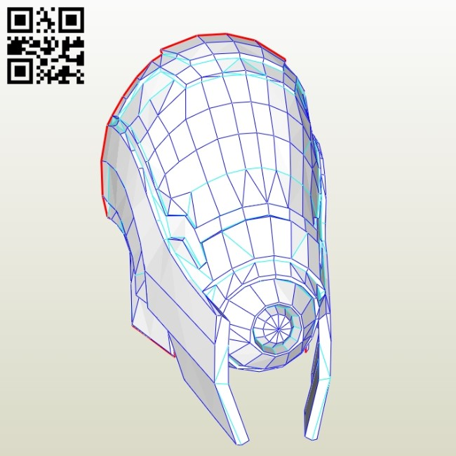 Quarian male mask E0010966 file cdr and dxf free vector download for Paper Laser cut