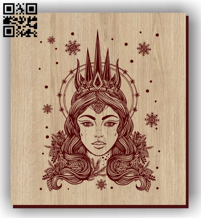 Queen E0011303 file cdr and dxf free vector download for laser engraving machines