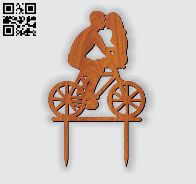 Romantic love topper E0010977 file cdr and dxf free vector download for Laser cut