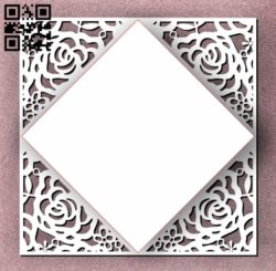 Rose Card E0011291 file cdr and dxf free vector download for Laser cut cnc