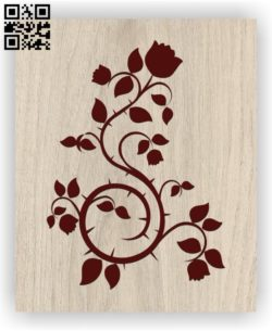 Rose E0011350 free vector download for laser engraving machines