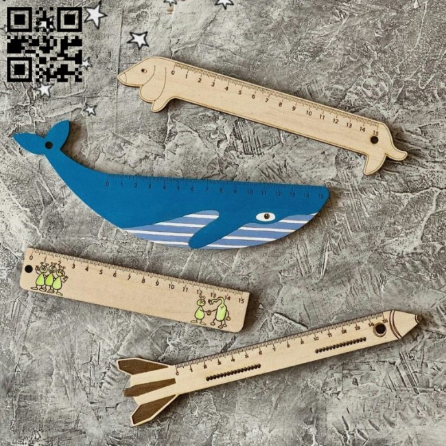 Rulers E0011295 file cdr and dxf free vector download for Laser cut
