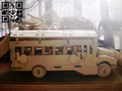 School bus E0011088 file cdr and dxf free vector download for Laser cut