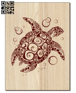 Sea turtle E0011063 file cdr and dxf free vector download for laser engraving machines