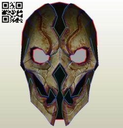 Shadow Mask  E0010950 file cdr and dxf free vector download for Paper Laser cut
