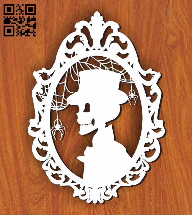 Skeleton Gentleman E0011247 file cdr and dxf free vector download for Laser cut