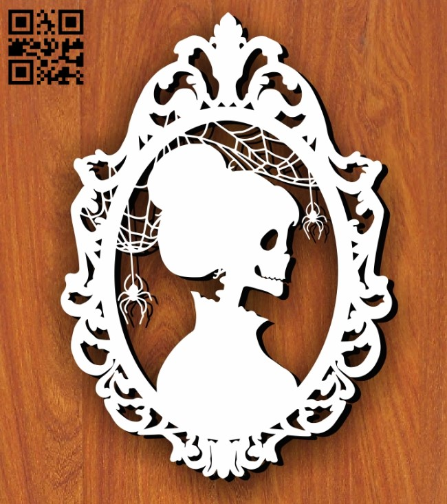 Skeleton Lady E0011246 file cdr and dxf free vector download for Laser cut