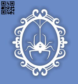 Spider E0010957 file cdr and dxf free vector download for Laser cut