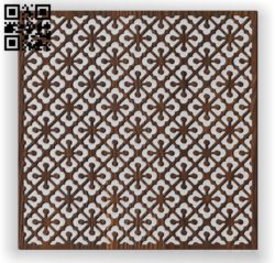 Square decoration E0010960 file cdr and dxf free vector download for Laser cut