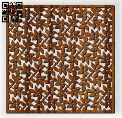 Square decoration E0010961 file cdr and dxf free vector download for Laser cut