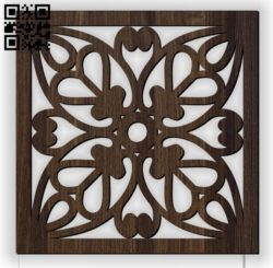 Square decoration E0010962 file cdr and dxf free vector download for Laser cut