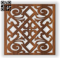 Square decoration E0010963 file cdr and dxf free vector download for Laser cut