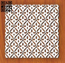 Square decoration E0011132 file cdr and dxf free vector download for Laser cut