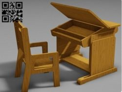 Tables and chairs E0011026 file cdr and dxf free vector download for Laser cut