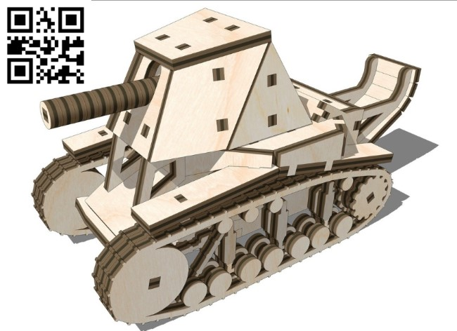 Tank SU18 E0011210 file cdr and dxf free vector download for Laser cut