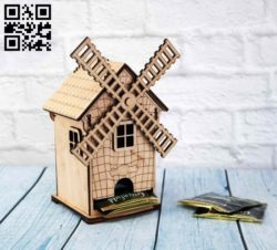 Tea house E0011317 file cdr and dxf free vector download for Laser cut