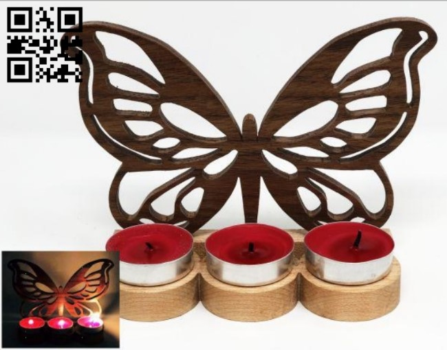 Tealight fly E0011223 file cdr and dxf free vector download for Laser cut