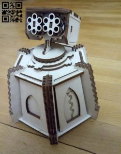Terrain turret E0011344 file cdr and dxf free vector download for Laser cut