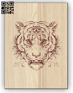 Tiger E0011250 file cdr and dxf free vector download for laser engraving machines