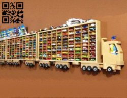 Toy car shelf E0011297 file cdr and dxf free vector download for Laser cut