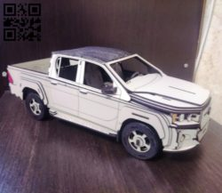 Toyota Hilux  E0010930 file cdr and dxf free vector download for Laser cut