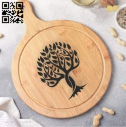 Tree art E0010942 file cdr and dxf free vector download for laser engraving machines
