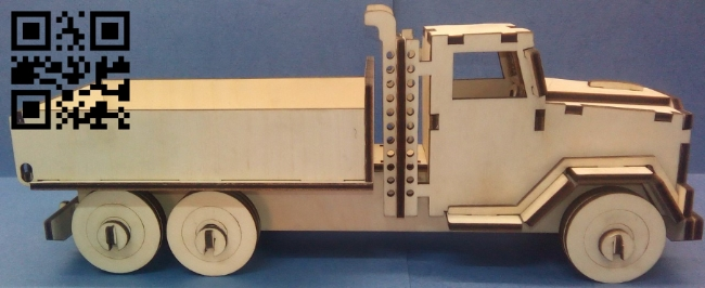 Truck E0011183 file cdr and dxf free vector download for Laser cut