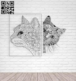 Cat E0011307 file cdr and dxf free vector download for laser engraving machines