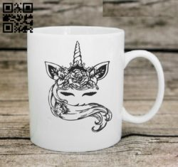 Unicorn E0010980 file cdr and dxf free vector download for laser engraving machines