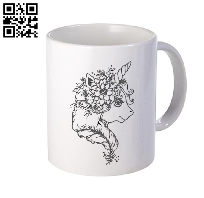 Unicorn E0010981 file cdr and dxf free vector download for laser engraving machines