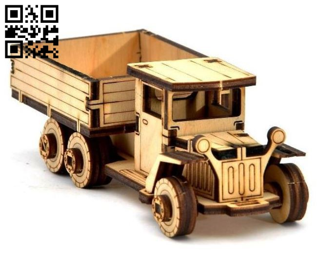 Vehicle black truck E0011284 file cdr and dxf free vector download for laser engraving machines