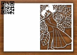 Wedding card decoration E0011258 file cdr and dxf free vector download for laser cut