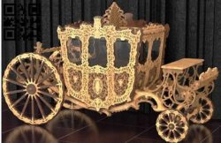 Wedding carriage E0011121 file cdr and dxf free vector download for Laser cut