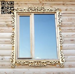 Window frame E0011043 file cdr and dxf free vector download for laser cut