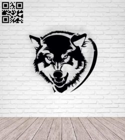 Wolf E0011292 file cdr and dxf free vector download for Laser cut