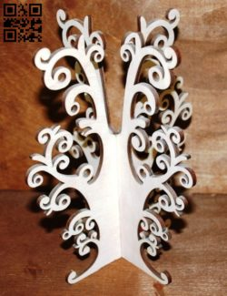 Wood tree E0011115 file cdr and dxf free vector download for Laser cut